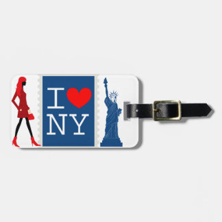 New York luggage tag (personalize)