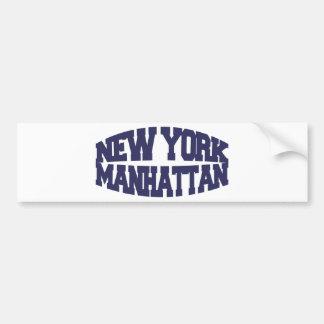 New York Manhattan Bumper Sticker