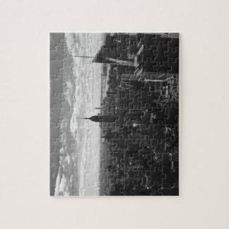 New York Manhattan Empire State Jigsaw Puzzle B&W