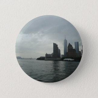 New York Manhattan Hudson River Gift 6 Cm Round Badge