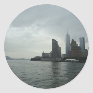 New York Manhattan Hudson River Gift Classic Round Sticker