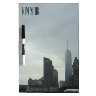 New York Manhattan Hudson River Gift Dry Erase Board