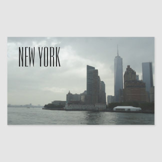 New York Manhattan Hudson River Gift Rectangular Sticker