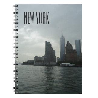 New York Manhattan Hudson River Note Pad Notebook