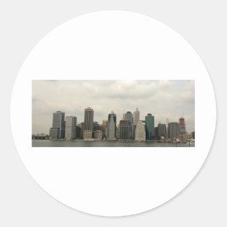 New York - Manhatten from Brooklyn Classic Round Sticker