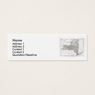 New York Map and State Flag Mini Business Card