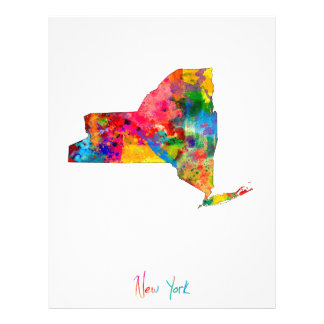 New York Map 21.5 Cm X 28 Cm Flyer