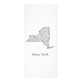 New York map Custom Rack Card