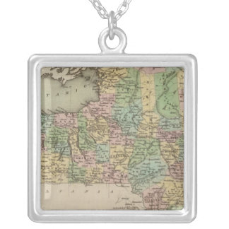 New York map Silver Plated Necklace
