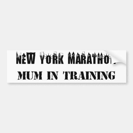 New York Marathon Mum in Training Bumper Sticker