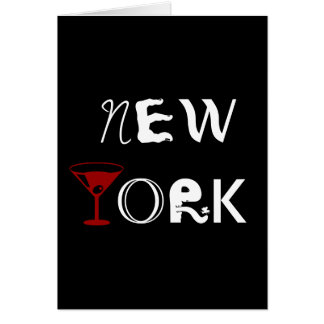 New York Martini Card