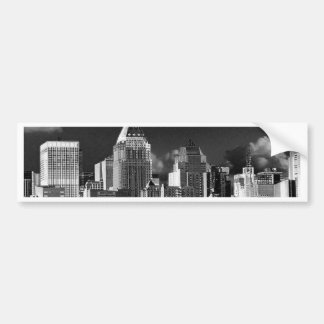 New York metallic Bumper Sticker