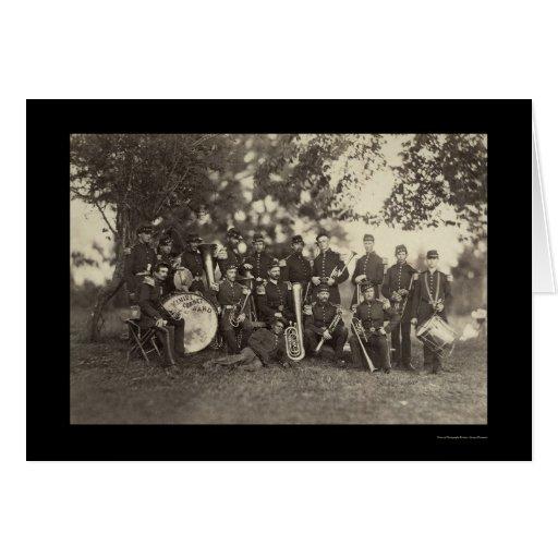 New York Militia Military Band, Arlington, VA 1861 Greeting Card