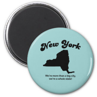 New York Motto - A whole state 6 Cm Round Magnet