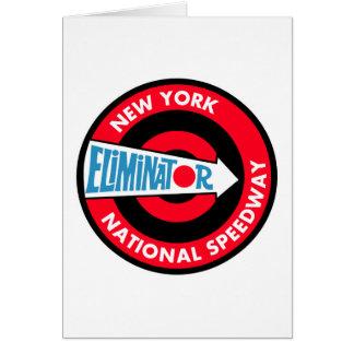 New York National Speedway Vintage sign Greeting Card