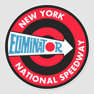 New York National Speedway Vintage sign Classic Round Sticker
