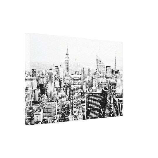 New York, New York (black & white panorama)
