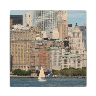 New York, New York City. Downtown Manhattan City Wood Coaster