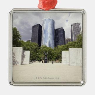 New York, New York City, Manhattan, Vietnam Silver-Colored Square Decoration