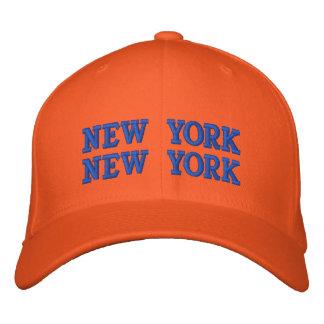 NEW YORK NEW YORK EMBROIDERED BASEBALL CAP