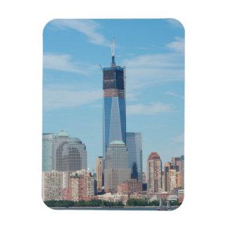 New York, New York. Manhattan City Skyline Magnet
