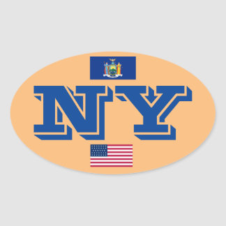 New York - New York Oval Sticker