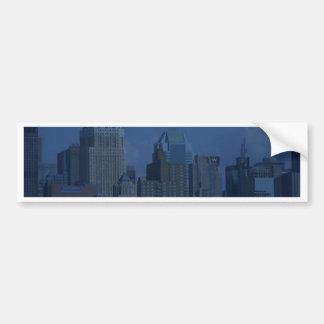 new york night blue bumper sticker