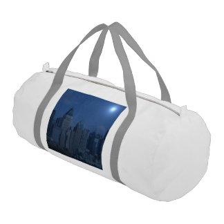 new york night blue gym duffel bag