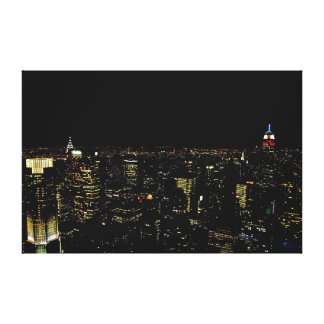 New York night skyline Canvas Print