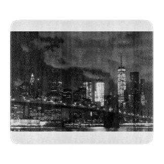 New York Night Skyline Cutting Board