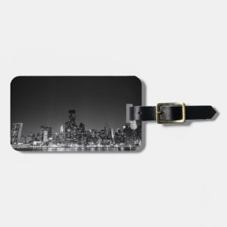 New York Night Skyline Luggage Tag