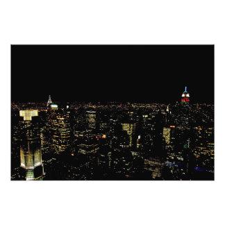 New York night skyline Photograph