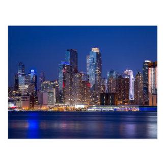New York night skyline Postcard