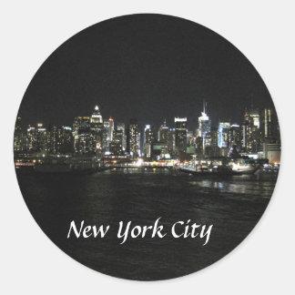 New York Nighttime Skyline Stickers