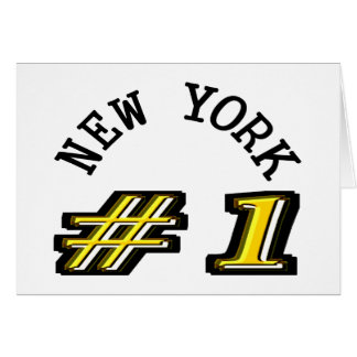 New York Number 1 Template Greeting Card