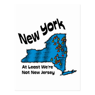 New York NY Motto ~ At Least We're Not New Jersey Postcard