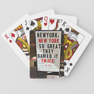 New York, NY New York City Sign Playing Cards