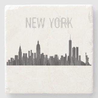 NEW YORK, NY SKYLINE PAINTBRUSH - STONE COASTER