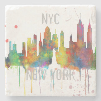 NEW YORK, NY SKYLINE - Stone Drinks Coaster Stone Coaster