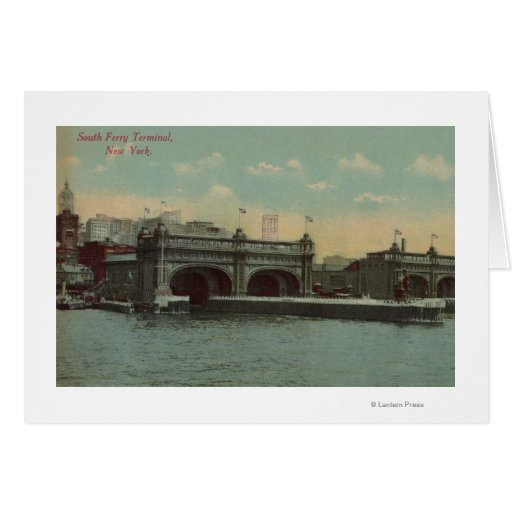 New York, NY - South Ferry Terminal Building Card