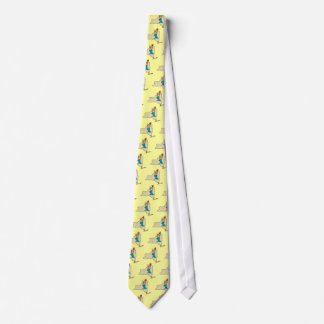 New York NY State Cartoon Map Statue Of Liberty Tie