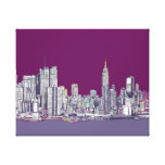 New York NYC purple Gallery Wrapped Canvas