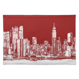 New York NYC red Placemat