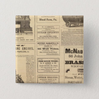 New York Oil Advertisements 15 Cm Square Badge
