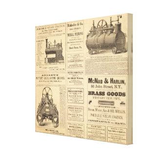 New York Oil Advertisements Canvas Print