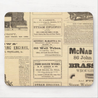 New York Oil Advertisements Mouse Mat
