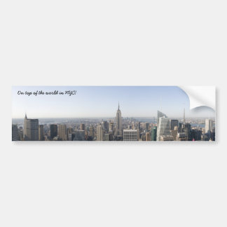 New York On top of the world in NYC! Bumper Sticker