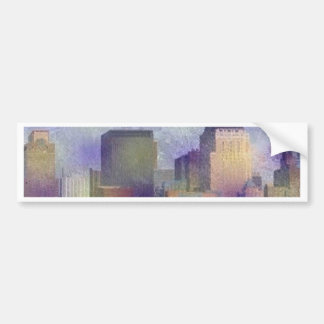 New York painted effect Bumper Stickers