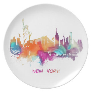 New York Party Plates