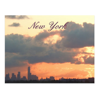 New York Pastel Sunset Postcard